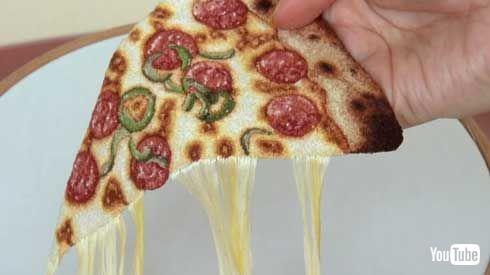 刺繍 ピザ チーズ 伸びる リアル フレンチノット ipnot