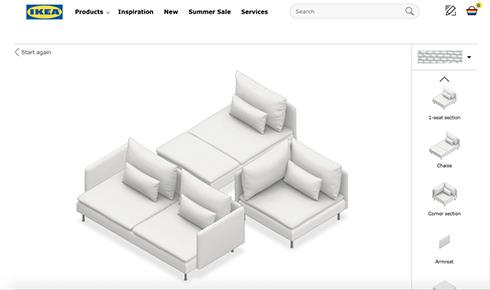 IKEAのソファー配置ツールを使ったクリエイティブ大喜利が勃発