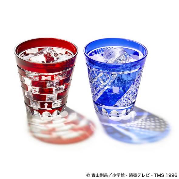 「名探偵コナン 江戸切子グラス」イメージ図