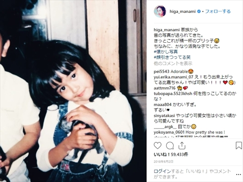 比嘉愛未 幼少期 TWO WEEKS インスタ Instagram