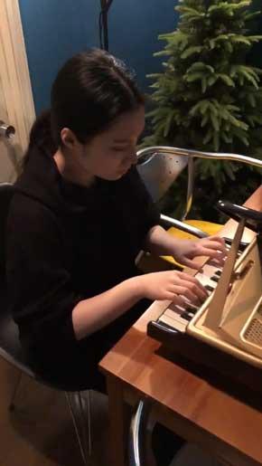 おもちゃ グランドピアノ ピアニスト 妻 即興 演奏