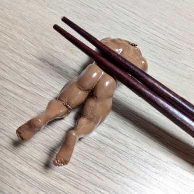 マッチョ 箸置き 日焼け 背筋 腹筋