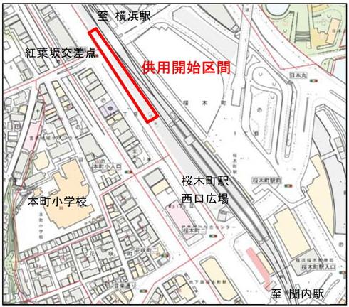 東横線跡地遊歩道の位置