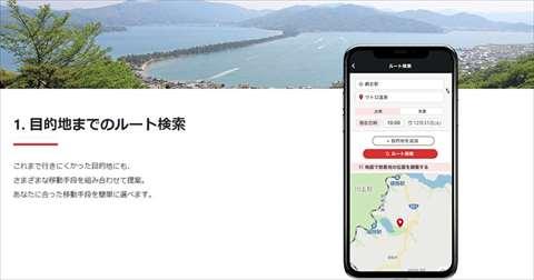 観光MaaSアプリ「WILLERS」