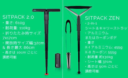 Sitpack ZEN 折りたたみ 椅子 世界最小 Y字 Makuake クラウドファンディング