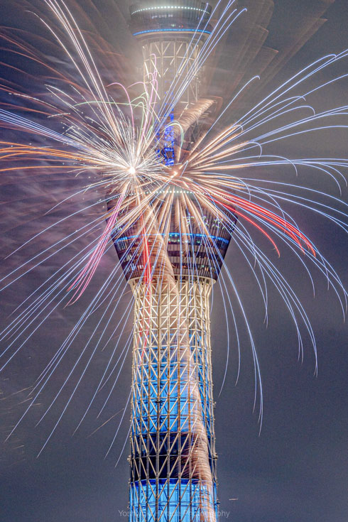 隅田川花火大会 写真 強風 現代アート 撮影 きれい 美しい