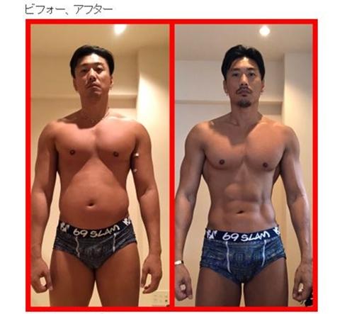 金子賢 ダイエット ボディービル トレーニング ビフォーアフター