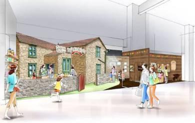 「ひつじのショーンビレッジ ショップ&カフェ」外装イメージ
