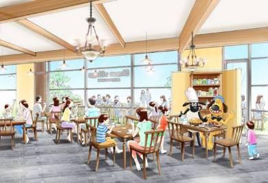 「ひつじのショーンビレッジ ショップ&カフェ」キッチンエリアイメージ