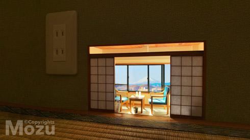 富士山が見えるこびとの旅館
