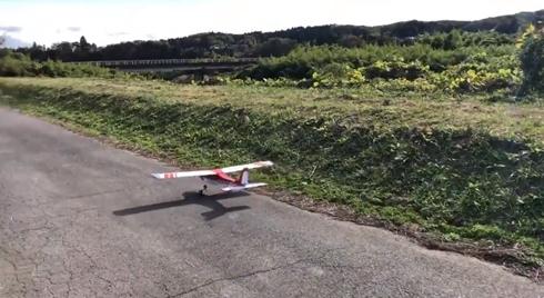 飛行機 プラモデル ラジコン 大破