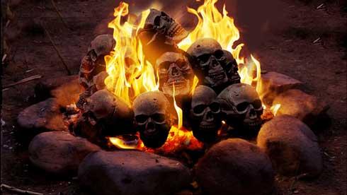 ドクロ 炭 燃える 着火剤 クラウドファンディング Makuake