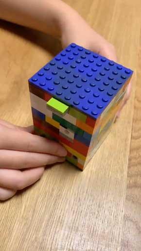 小6 娘 4時間 作った 力作 レゴ からくり箱 小学生