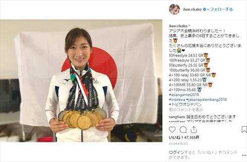 池江璃花子 白血病 闘病 Instagram ディズニーランド 競泳 退院 誕生日 アジア大会 6冠