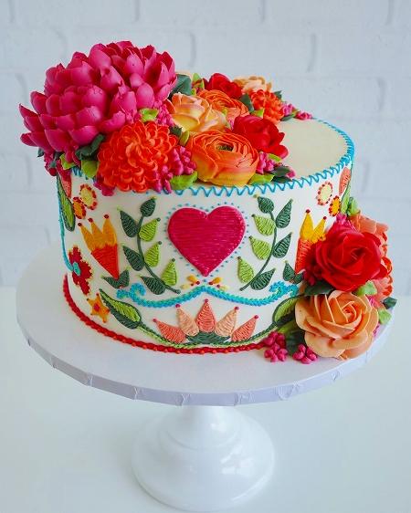 刺繍のようなケーキ