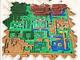 「ゼルダの伝説」マップ画面を表現した超大作アイロンビーズがすごい! 5万7344個のビーズで制作期間約半年