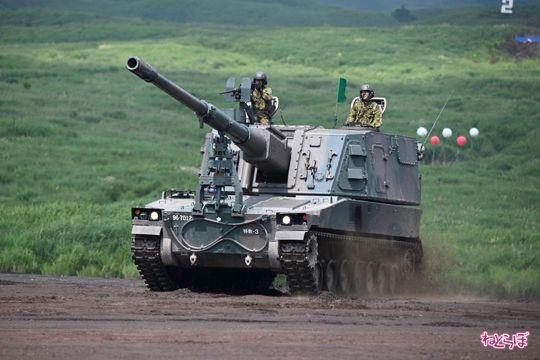 富士総合火力演習 総火演 自衛隊 写真