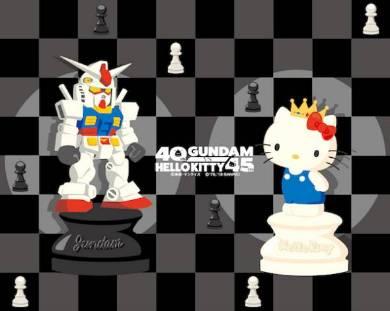 「ガンダムvsハローキティ」第7ステージ チェスデザイングッズメインイメージ