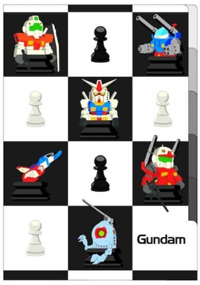 ガンダム  5ポケットクリアファイルイメージ