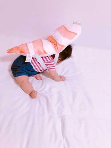 暴れるエビ 寿司 転倒防止 セーフティクッション シャリ かわいい しまむら 赤ちゃん