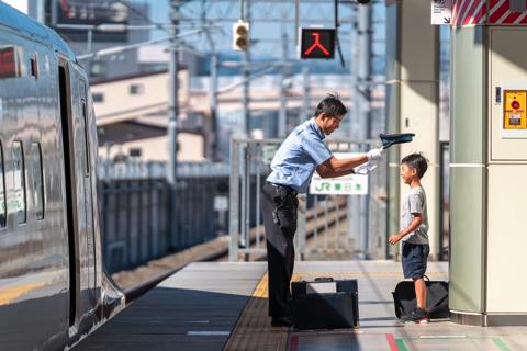 北陸新幹線 運転士 帽子 息子 キッズ サービス