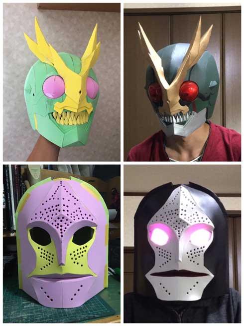 ダイソー マット コスプレ 使い方 仮面ライダー 加工 技術 成形 マスク
