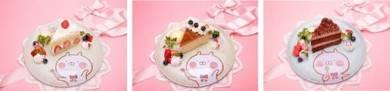 ケーキファクトリーうさまるの定番3種(ショートケーキ/チョコレートケーキ/ベイクドチーズスフレ)/1390円