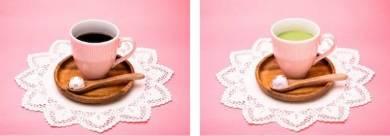 (左)じぶんでうさまるのっけコーヒー/690円、(右)じぶんでうさこのっけ抹茶ミルク/790円