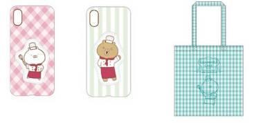 (左)スマホケース(うさまる、くまさん計2種類)/各2500円、(右)A4トートバッグ(1種)/2000円