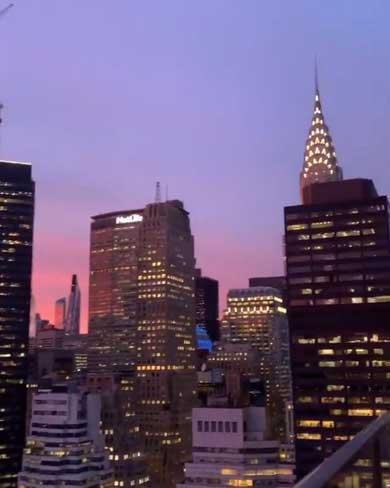 ニューヨーク ミッドタウン 夕焼け 綺麗 NY 景色 高層ビル