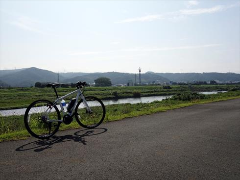 狩野川沿いをサイクリング