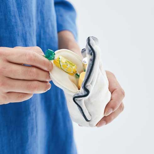 牡蠣 レモン バッグ ポーチ ハンカチ JR西日本 フェリシモ 広島