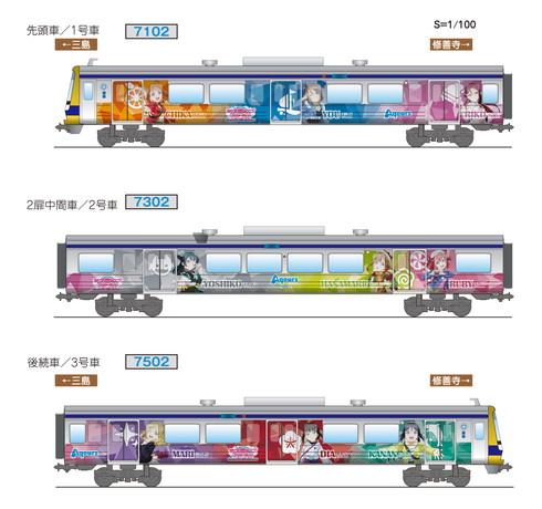 伊豆箱根鉄道ラブライブラッピング