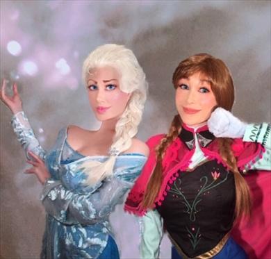 叶姉妹 美香 恭子 コスプレ アナ雪 アナと雪の女王 アナ エルサ インスタ