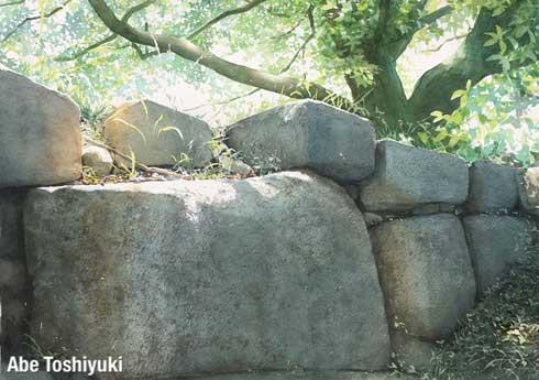 透明 水彩画 あべとしゆき 風景 リアル 写実的 絵 自然