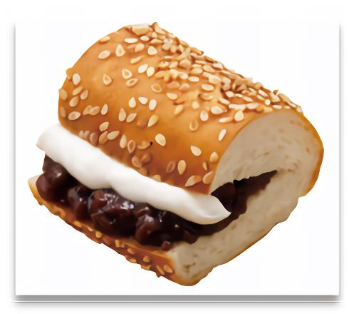 あんこのサンドイッチ