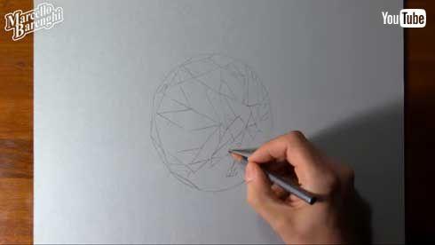 エメラルド 絵 リアル 制作過程 Marcello Barenghi イタリア アーティスト YouTube