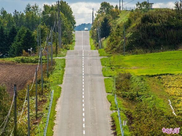 これが「かみふらの八景 ジェットコースターの路」!見てください、まさにジェットコースター!
