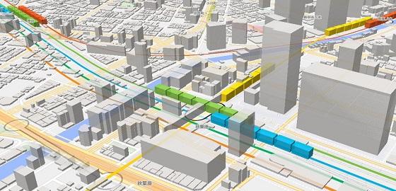 Mini Tokyo 3D 電車 東京 マップ 時間泥棒