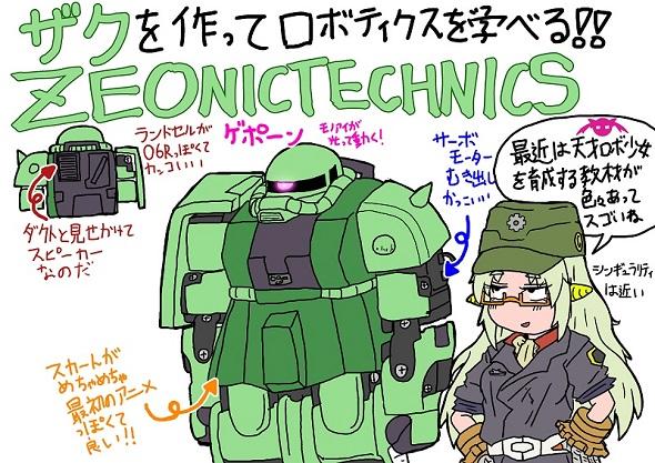 マシーナリーとも子「ZEONIC TECHNICS」