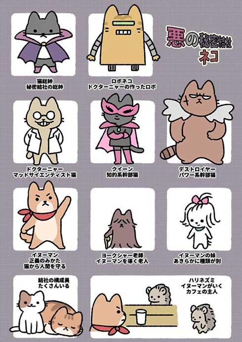 悪の秘密結社ネコ 猫 ぱんだにあ pandania ねこようかい 漫画