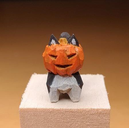 ジャックランタン猫正面