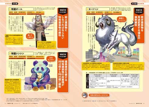 建築知識 11月号 建築基準法 幻獣 表現 イラスト キャラクター