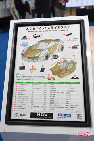 東京モーターショー2019 木からつくったミライのクルマ
