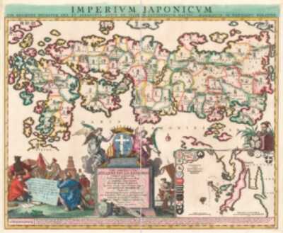 レーラント 日本帝国図(1715年)
