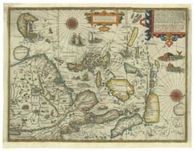 リンスホーテン 東アジア図(1595年)