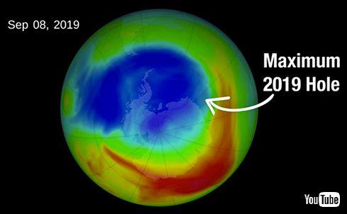 NASA、今年のオゾン層破壊は劇的に抑制されたと発表 「原因は成層圏が例年より温暖であったため」
