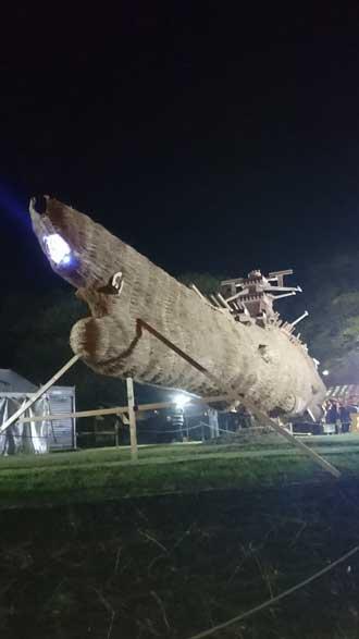 巨大わらかがし 宇宙戦艦ヤマト 藁 ど〜んとかがし祭 展示