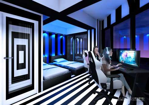 e-ZONe 電脳空間 大阪日本橋 eスポーツ ホテル 宿泊 PCブース 開業 サンユー都市開発