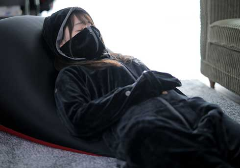 ゲーミング着る毛布 ダメ着 4G ストレッチ生地 ゲーマー向け 防寒着